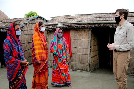 US Ambassador Earl Miller handover assistance to the flood-affected families in Gaibandha