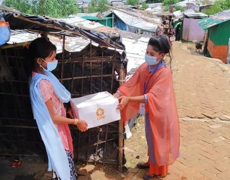 Hygiene Kit Distribution in Camp 15, Coxz Bazar